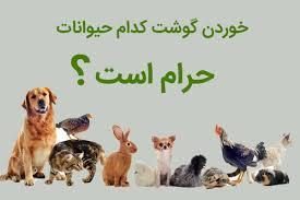 حیوانات حلال گوشت